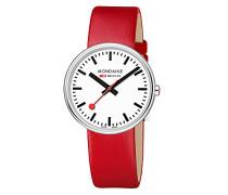Datum klassisch Quarz Uhr mit Leder Armband MSX.3511B.LC