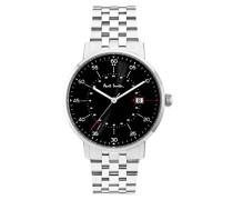 Herren Analog Quarz Uhr mit Leder Armband P10073