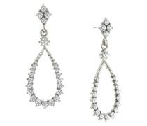 Ohrringe, Sterling-Silber, Glaskristall, Tropfenform