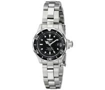 8939 Pro Diver Uhr Edelstahl Quarz schwarzen Zifferblat