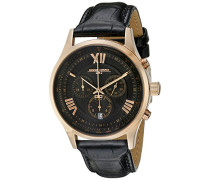 Herren-Armbanduhr XL Analog Quarz Leder JG6600-21