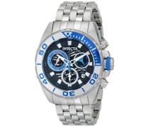 Armbanduhr Chronograph Quarz Edelstahl 14724