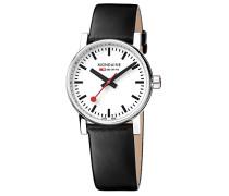 Datum klassisch Quarz Uhr mit Leder Armband MSE.30110.LB