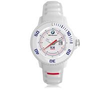 BMW Motorsport (sili) White - Weiße Herrenuhr mit Silikonarmband - 000833 (Small)