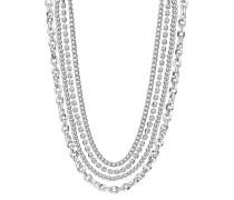 Halskette ohne Anhänger silber Metall EANL20006A000