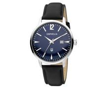 Herren-Armbanduhr Zoom Analog Quarz Leder