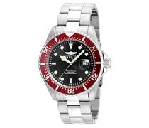 22020 Pro Diver Uhr Edelstahl Quarz schwarzen Zifferblat