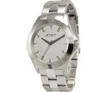– j69794 – 652 Armbanduhr 045J699 Analog silber Armband Stahl Silber