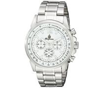 Armbanduhr für mit Analog-Anzeige, Quarz-Uhr mit Edelstahl Armband - Wasserdichte Herrenarmbanduhr mit zeitlosem