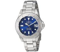 24632 Pro Diver Uhr Edelstahl Quarz blauen Zifferblat