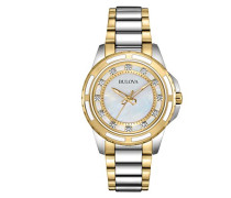 Armbanduhr Diamonds Analog Quarz Edelstahl 98P140