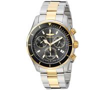 26057 Pro Diver Uhr Edelstahl Quarz schwarzen Zifferblat