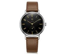 Analog Quarz Uhr mit Leder Armband DF-9001-02