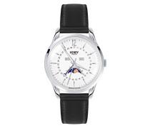 Mondphase Quarz Uhr mit Leder Armband HL39-LS-0083