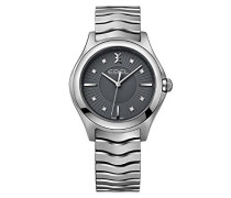 Datum klassisch Quarz Uhr mit Edelstahl Armband 1216307