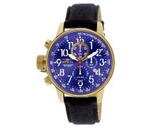 1516 I-Force Uhr Edelstahl Quarz blauen Zifferblat