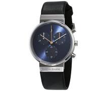 Damen Chronograph Quarz Uhr mit Leder Armband 615