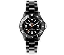 - ICE solid Black - Schwarze Herrenuhr mit Plastikarmband - 000622 (Medium)