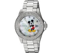 24750 Disney Limited Edition - Mickey Mouse Uhr Edelstahl Quarz weißen Zifferblat