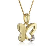 Kinder Halskette 8 Karat 333 Gold gelb Gelbgold teilrhodiniert Zirkonia weiß 38.0 cm 500341191-38Z