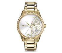 Armbanduhr Datum klassisch Quarz Edelstahl ES109082001