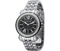 Armbanduhr Monaco Madame Analog Quarz Edelstahl PC100742F05