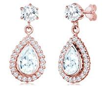 Ohrhänger Tropfen Zirkonia Glamour Elegant Funkelnd rosé vergoldet silber 925 0306340616
