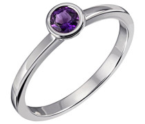 Damenring True colors 925 Sterlingsilber 1 Amethyst lila facettiert 4
