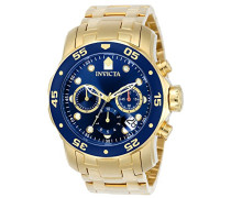 0073 Pro Diver - Scuba Uhr Edelstahl Quarz blauen Zifferblat