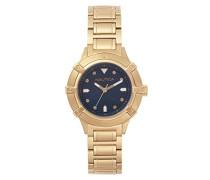 Datum klassisch Quarz Uhr mit Edelstahl Armband NAPCPR005