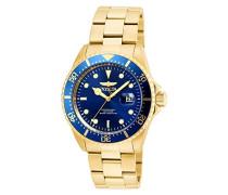 22063 Pro Diver Uhr Edelstahl Quarz blauen Zifferblat