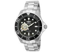 Armbanduhr Analog Automatik Edelstahl silber 13703