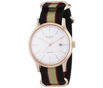 Herren-Armbanduhr XL Analog Quarz Textil 11100238