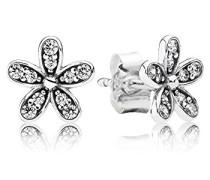 Ohrstecker Glanzvolles Gänseblümchen 925 Silber Zirkonia weiß - 290570CZ