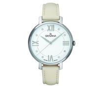 Datum klassisch Quarz Uhr mit Leder Armband 4441.1533