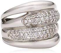 Damenring aus 925er Sterling Silber mit 81 weißen Zirkonias W.:54 368270007L-054