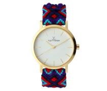 Maya Women's Quarz-Uhr mit weißem Zifferblatt Analog-Anzeige und blauem Band MYW07GD - 0.94.0061