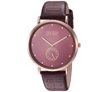 Analog Quarz Uhr mit Leder Armband SYLSYL175RRG