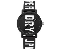 Erwachsene Analog Quarz Uhr mit Silikon Armband SYGSYG196BBW