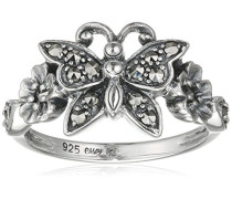 Ring 925 Silber vintage-oxidized Markasit 52 (16.6) - L0143R/90/B3/52