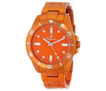 Armbanduhr für mit Analog Anzeige, Quarz-Uhr mit Aluminium Armband - Wasserdichte Damenuhr mit zeitlosem, schickem Design -klassische