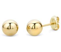 Ohrringe Gelbgold 14 Karat / 585 Gold Ohrstecker Kugel
