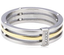 Damen-Ring Titan Bicolor 5 Brillianten 0,025