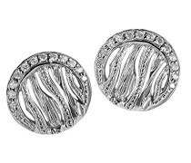 Ohrstecker 925 Silber rhodiniert Zirkonia weiß Rundschliff - ZO-6031