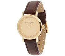 -Damen-Armbanduhr-Braun Lederband 124GGBLL