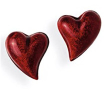 Herzohrstecker Crown of my Heart mit Brandlack LD LP 23 RM