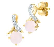 9 k (375) Gelbgold Rundschliff weiß Opale Diamant