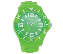 Timepieces - XXL Herrenuhr mit Kautschukband - C4167 hellgrün