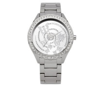 – M1106SM Armbanduhr 045J699 Analog silber Armband Stahl Silber