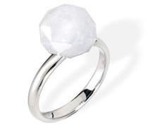 Damen-Ring BLACK & WHITE Edelstahl